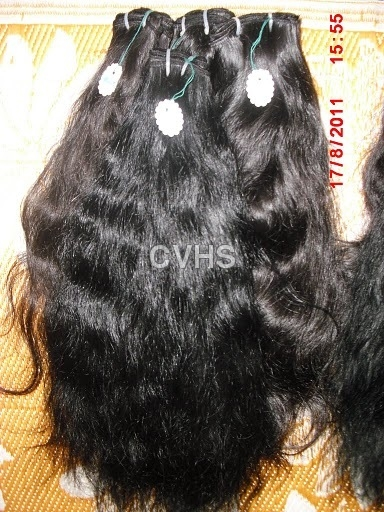 Curly machine weft