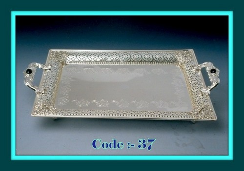 Tray with handle Rect. JallNakashi 17