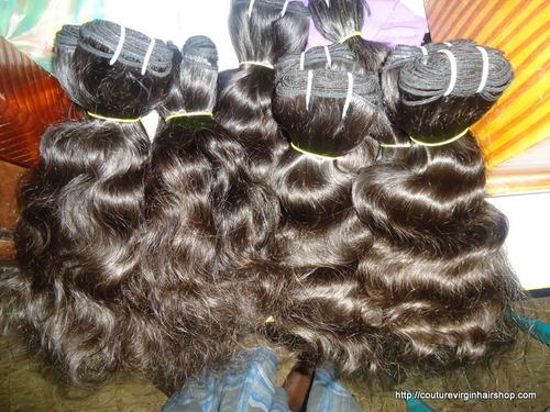 virgin Curly machine weft hair