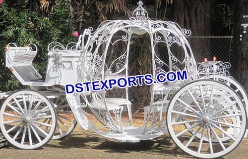 New Wedding White Cinderala Carriage