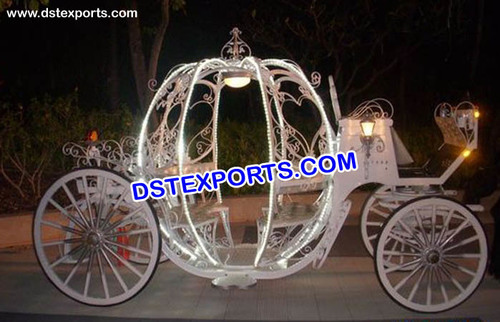 New Wedding Lighted Cinderala Carriage