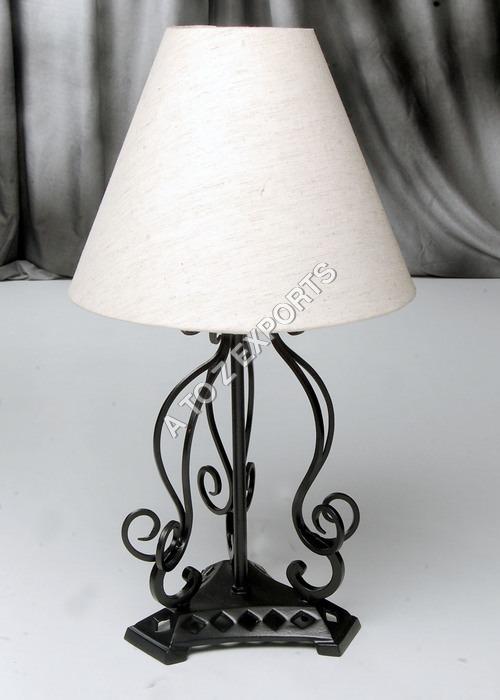 Black Powder Coated Metal Lamp