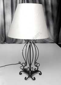Designer Black Powder Coated Metal Lamp