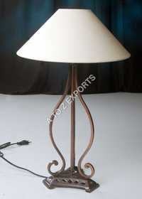 Designer Copper Plated Iron Lamp