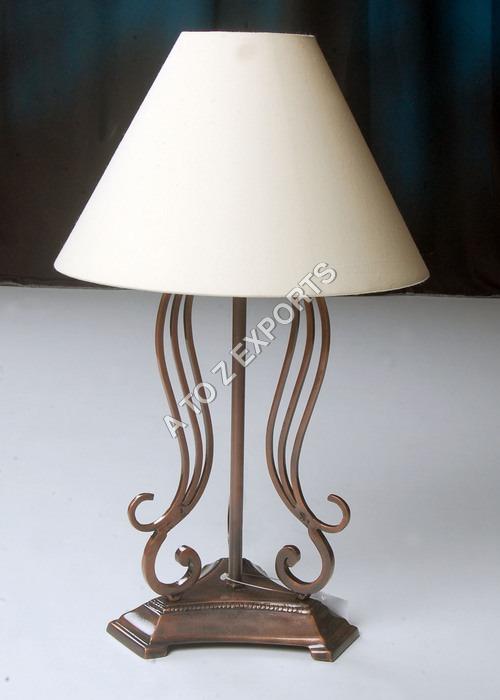 Designer Copper Plated Metal Lamp