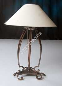 Wrought Iron Copper Plated Lamp