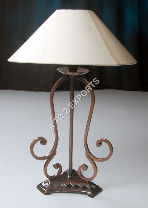 Wrought Iron Copper Plated Lamp Shade