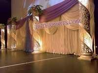 Latest Wedding Fiber Crystal Pillars
