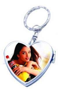Heart Mirror Key Rings