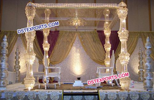 Lighted Crystal Wedding Pillar