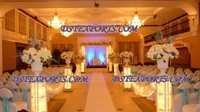 Wedding Aisleway Lighted Crystal Pillars