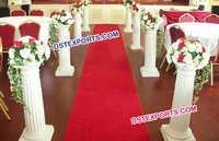 Wedding Aisleway Fiber Roman Pillar