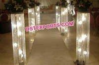 Wedding Lighted Crystal Aisleway Pillar