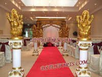 Wedding Aisleway Pillars With Golden Ganesha 5281