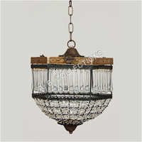 BEADED HALF DOME CHANDELIER