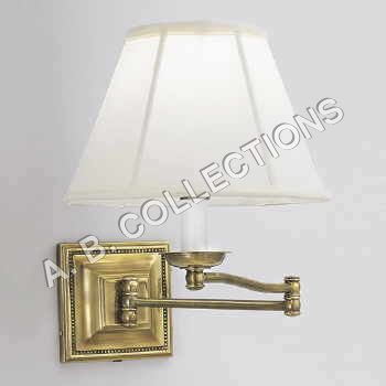 Brass Wall Sconce with Swinging Lamp Shade