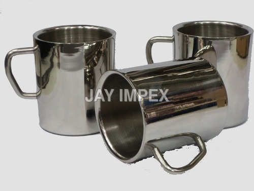Double Wall Steel Mugs