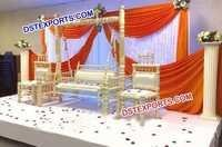 Wedding Decorated Pearl White Swing