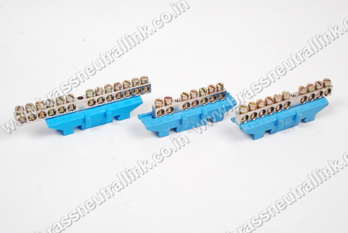 DIN Rail Base Brass Neutral Link