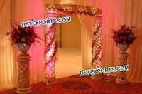 Wedding Fiber Carving Welcome Gate