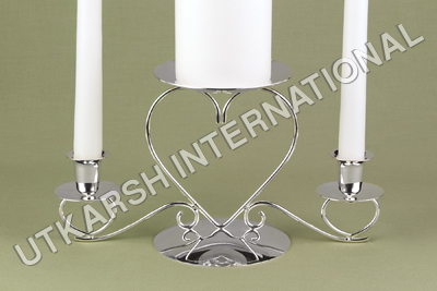 Triple heart candle holder