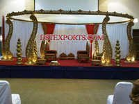 Latest Wedding Wooden Carved Mandap