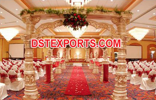 Fiber Devdas Pillars Wedding Mandap
