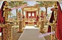 Indian Wedding Golden Carving Mandap