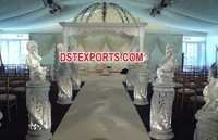 Wedding White Dom Mandap Set