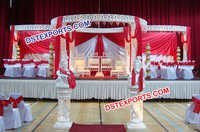 Wedding Fiber Crystal Mandap