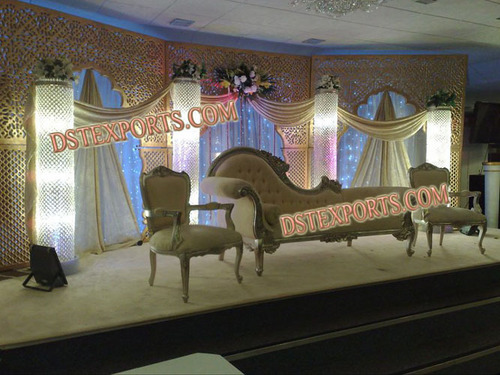 LATEST WEDDING STAGE WITH ITALIAN SOFA SET