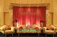 INDIAN WEDDING GOLD CARVED STAGES