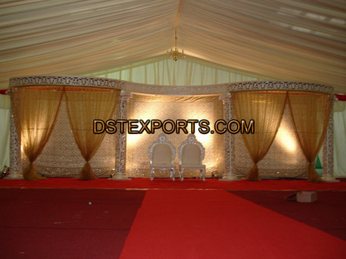 Wedding Fiber Carved Stage