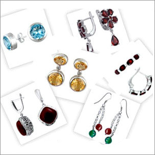 Color Silver Earring