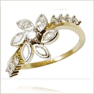 Diamond Designer  Rings Ladies gold rings