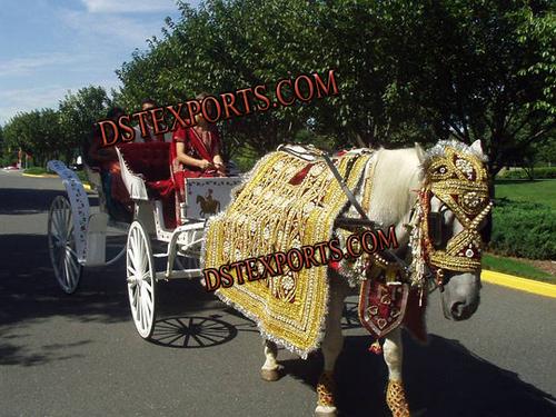 Indian Barat Golden Horse Costume