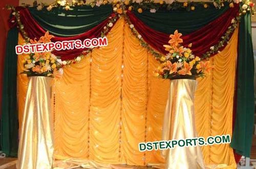 Golden Wedding Backdrop