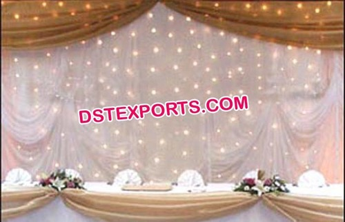 Decorated Star Wedding Backdrop