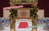 Wedding Golden Carved Welcome Gates