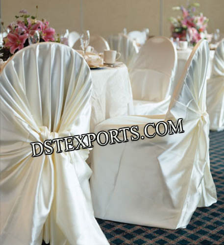 BANQUET HALL CHAIR COVERS WITH TIE BACK
