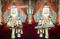 Fiber Gold Elephant Statue