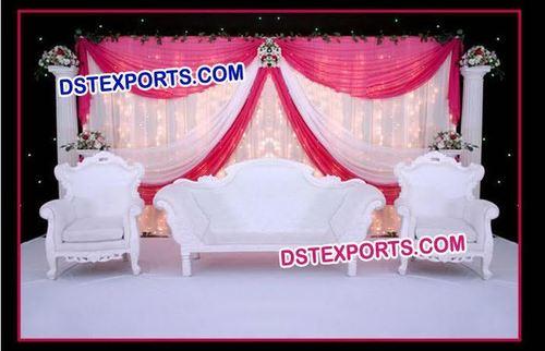 Wedding White Elegent Sofa Set