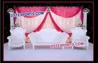 Wedding White Elegent Sofa Set