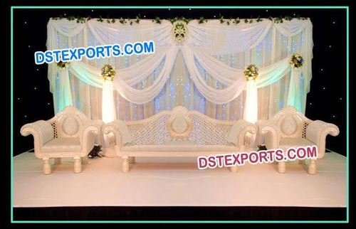 Latest Wedding Pearl Carved Sofa Set
