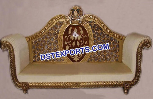 Wedding Two Seater Brass Metal Sofa