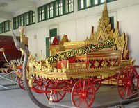 NEW STYLISH GOLDEN WEDDING CARRIAGE