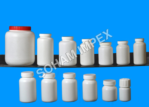 HDPE Tablets Bottles With CC Cap