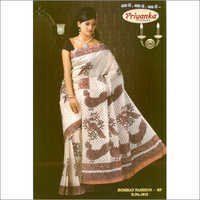 Plain Printed Saree