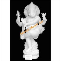 Marble Dancing Ganesha Statue