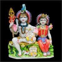 White Marble Shiv Parvati Moorti